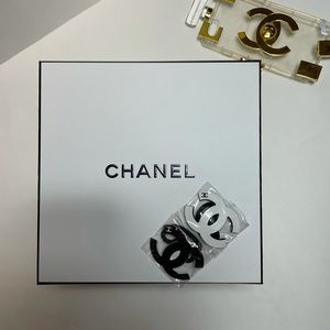 4 Chanel Camellia and CC Hair Ties NEW